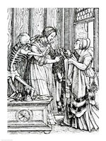 Death and the Mistress by Hans Holbein The Younger - various sizes