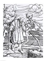 Death and the Old Man by Hans Holbein The Younger - various sizes