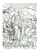 Death and the Bishop by Hans Holbein The Younger - various sizes