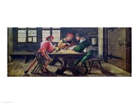 A School Teacher Explaining the Meaning of a Letter to Illiterate Workers, 1516 Fine Art Print