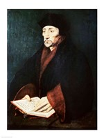 Portrait of Desiderius Erasmus by Hans Holbein The Younger - various sizes