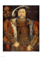 Portrait of Henry VIII B by Hans Holbein The Younger - various sizes
