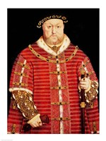 Portrait of Henry VIII D Fine Art Print