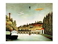 View of the Bridge at Sevres and the Hills at Clamart Fine Art Print