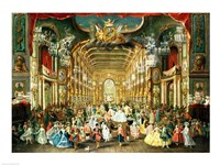 Masked Ball in the Hoftheater, Bonn, 1754 Fine Art Print