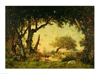 The Edge of the Forest at Fontainebleau Fine Art Print