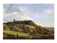 Forest Glade near a Village, 1833 Fine Art Print