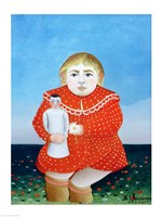 The girl with a doll by Henri Rousseau - various sizes