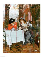 A Luncheon by James Jacques Joseph Tissot - various sizes