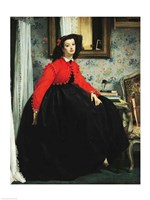 Young Lady in a Red Jacket Fine Art Print
