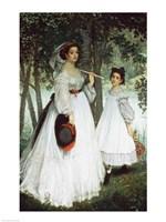 The Two Sisters: Portrait, 1863 Fine Art Print