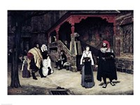 The Meeting of Faust and Marguerite, 1860 Fine Art Print