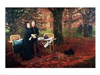 Empress Eugenie and Eugene-Louis Napoleon Bonaparte Fine Art Print