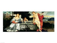 Sacred and Profane Love, c.1515 Fine Art Print