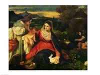 Madonna and Child with St. Catherine Fine Art Print