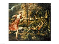 The Death of Actaeon Fine Art Print