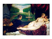 Venus with an Organist and Cupid Fine Art Print