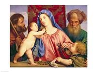 Madonna of the Cherries with Joseph Fine Art Print