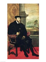 Seated Portrait of Emperor Charles V by Titian - various sizes