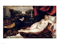 Venus and the Organist by Titian - various sizes