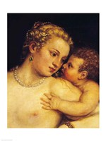 Venus Delighting herself with Love and Music, 1545 Fine Art Print
