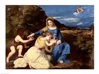 The Virgin and Child with Saints by Titian - various sizes