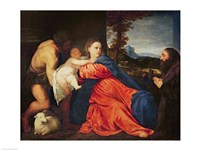 Virgin and Infant with Saint John the Baptist and Donor by Titian - various sizes