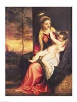 Virgin with Child at Sunset, 1560 by Titian, 1560 - various sizes