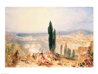 Florence from near San Miniato, 1828 Fine Art Print