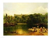 Windsor Castle from the Thames Framed Print
