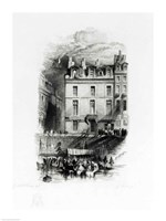 Napoleon's Lodgings on the Quai Conti by J.M.W. Turner - various sizes