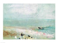 Beach with figures and a jetty. c.1830 by J.M.W. Turner - various sizes