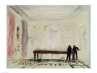 Billiard players at Petworth House, 1830 Fine Art Print