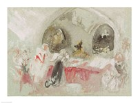 Service in the chapel at Petworth, 1830 by J.M.W. Turner, 1830 - various sizes