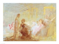 Interior at Petworth House with people in conversation, 1830 by J.M.W. Turner, 1830 - various sizes