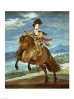 Prince Balthasar Carlos on horseback Fine Art Print