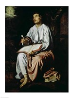 St. John the Evangelist on the Island of Patmos Fine Art Print