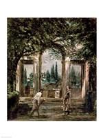The Gardens of the Villa Medici in Rome Fine Art Print