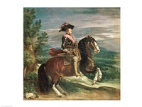 Equestrian Portrait of Philip IV by Diego Velazquez - various sizes