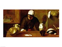 Kitchen Maid with the Supper at Emmaus, c.1618 Fine Art Print