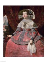 Queen Maria Anna of Spain in a red dress Fine Art Print