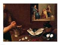 Kitchen Scene with Christ in the House of Martha and Mary, Detail by Diego Velazquez - various sizes
