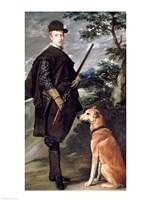 Portrait of Cardinal Infante Ferdinand of Austria with Gun and Dog, 1632 Fine Art Print