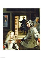 Las Meninas or The Family of Philip IV, c.1656, Detail Center Fine Art Print