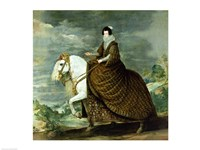 Equestrian portrait of Elisabeth de France by Diego Velazquez - various sizes