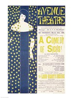 Poster advertising 'A Comedy of Sighs' Fine Art Print