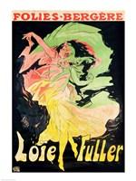 Folies Bergeres: Loie Fuller, France, 1897 Fine Art Print