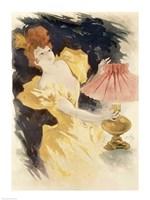 Saxoleine (Advertisement for lamp oil), France 1890's Fine Art Print
