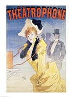 Poster Advertising the 'Theatrophone' Fine Art Print