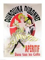 Poster advertising 'Quinquina Dubonnet' aperitif, 1895 Fine Art Print